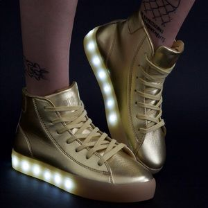 SOLD OUT— Glimmer Gold POP Light Up GOLD Sneakers